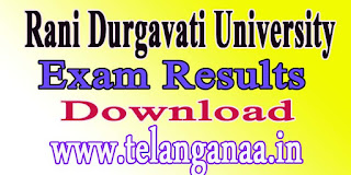 Rani Durgavati University BBA 3rd 4th Sem 2016 Exam Results Download