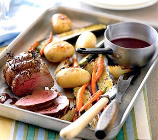 mini lamb roast with red wine gravy recipe