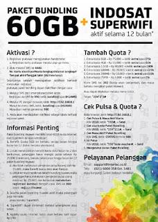Review : Kartu Perdana Internet Indosat Ooredoo BUNDLING 60 GB + Indosat Super Wifi Setahun