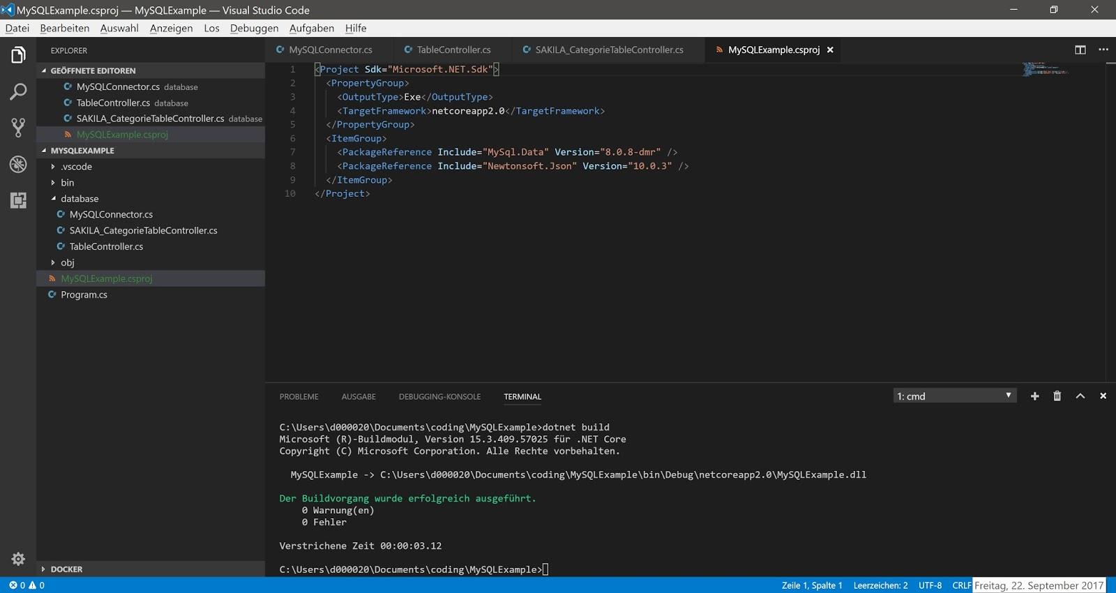 Tutorial: MySQL-Datenbankverbindung mit C# & .Net Core