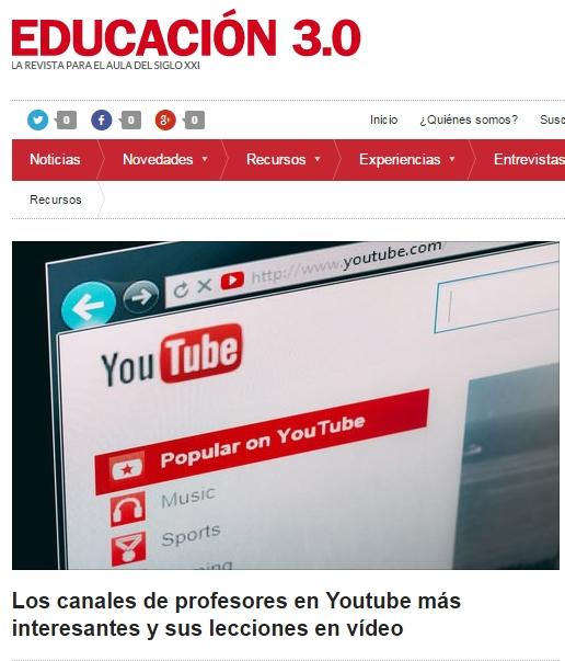 El Canal educativo: ALBA JIMENEZ  en la lista de los más interesantes en educación.