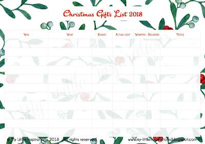 La Lista dei Regali di Natale 2018 - Download English List - MLI