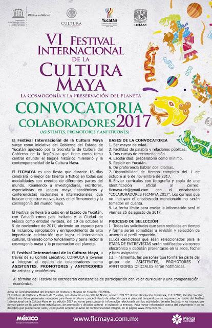 convocatoria festival cultura maya 2017