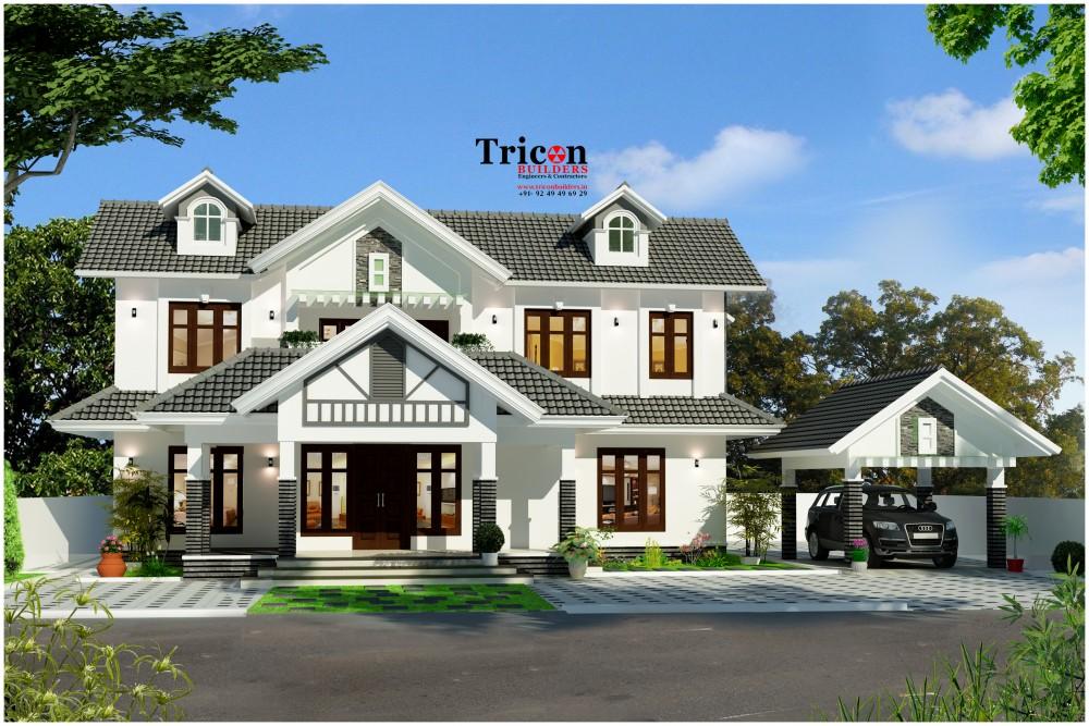 2483 Sq ft 4 Bedroom Luxury Home Design