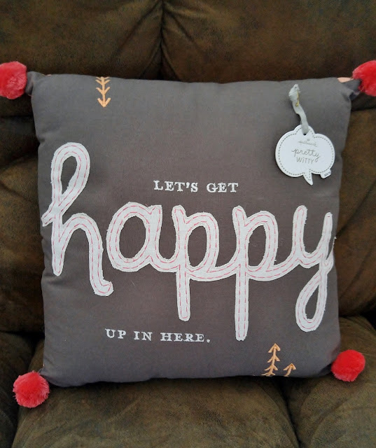 Let's get happy up in here pillow #Witty #happy #homedecor