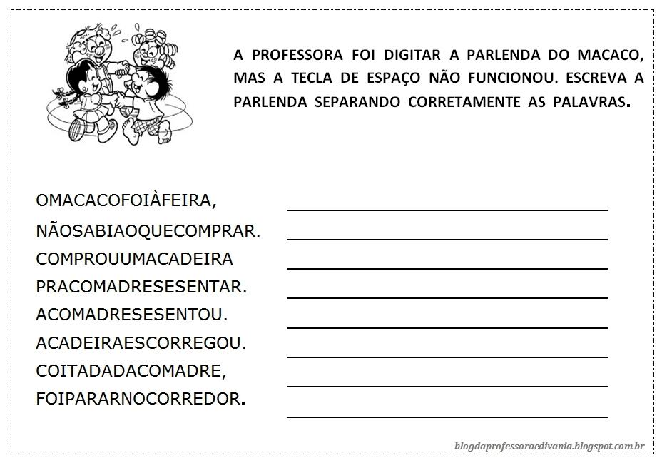 23 09 B 1 Atividades Preparatórias 2 Ofertas: Blog Da Professora Edivania: PARLENDA