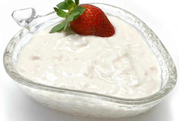 Curd With Strawberry