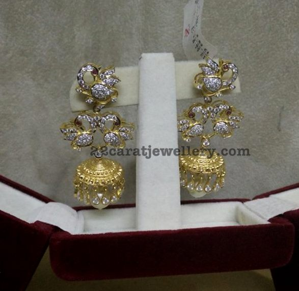 Diamond Chandbalis and Jhumkas