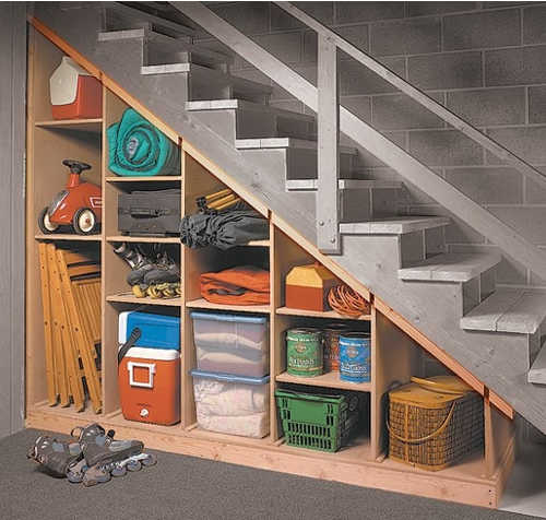 Diy Storage Shelves Basement Storage: 9 Brilliant Ideas For The Space Under The Stairs
