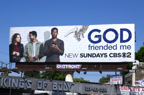 God Friended Me series premiere billboard
