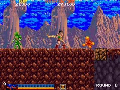 街機:王者之劍(Rastan)+作弊Cheat,操作簡單的動作ACT遊戲!