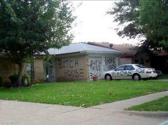גרפיטי על כל הבית
