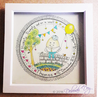 framed watercolour name doodle by deborah dey