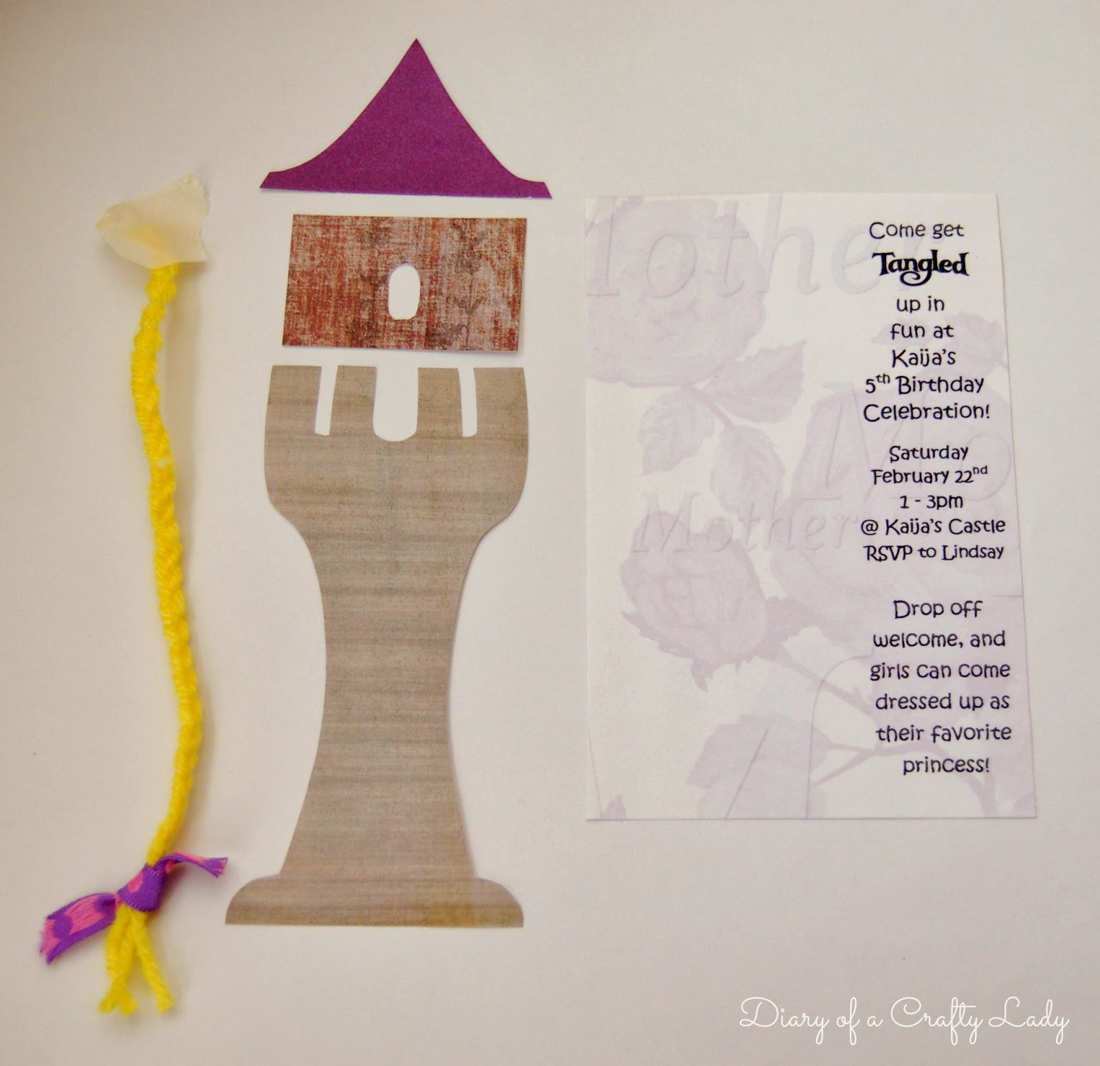 Invitations Party Favors And Thank You Cards From Our Rapunzel Tangled Birthday