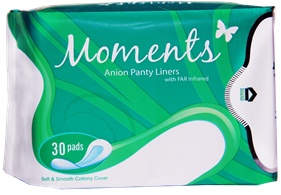health, women's health, monthly period, Moments Anion Sanitary Napkins by Santé, sanitary pad, feminine care, sanitary napkin,