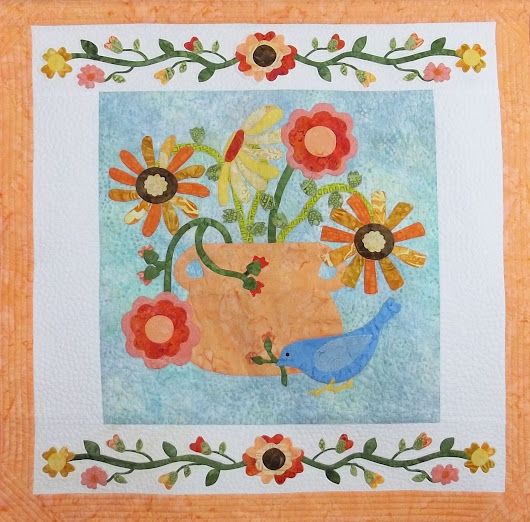 New Patterns for Applique' Lovers: Prairie Meadow Bird & Bunny