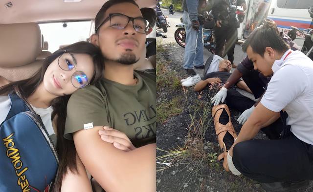 Kekasih Sajat Terlibat Dalam Kemalangan