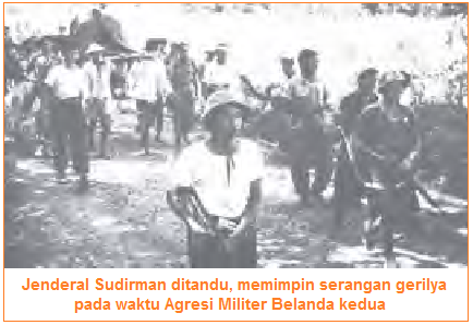Jenderal Sudirman memimpin serangan gerilya