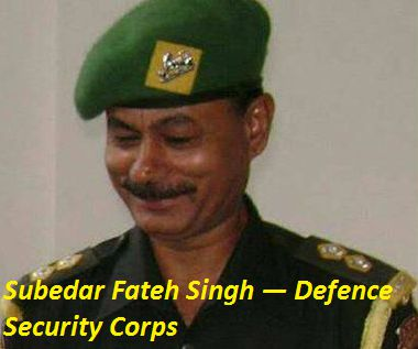 Subedar Fateh Singh (Defence Security Corps) Pathankot Terror Attack Martyr (killed, dead indian army man, soldier)