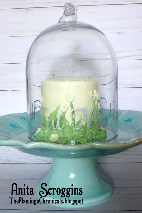 Turn an inexpensive glass some into a fun cake cover using etchall® etching creme.