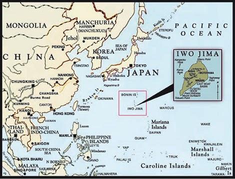 Letak Iwo Jima