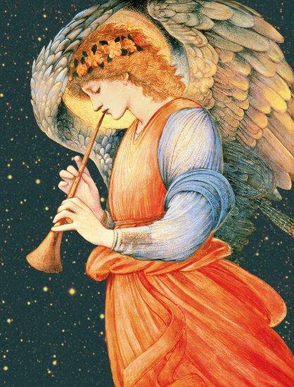 Burne-Jones Angel playing flageolet CC1135 Larger Poster