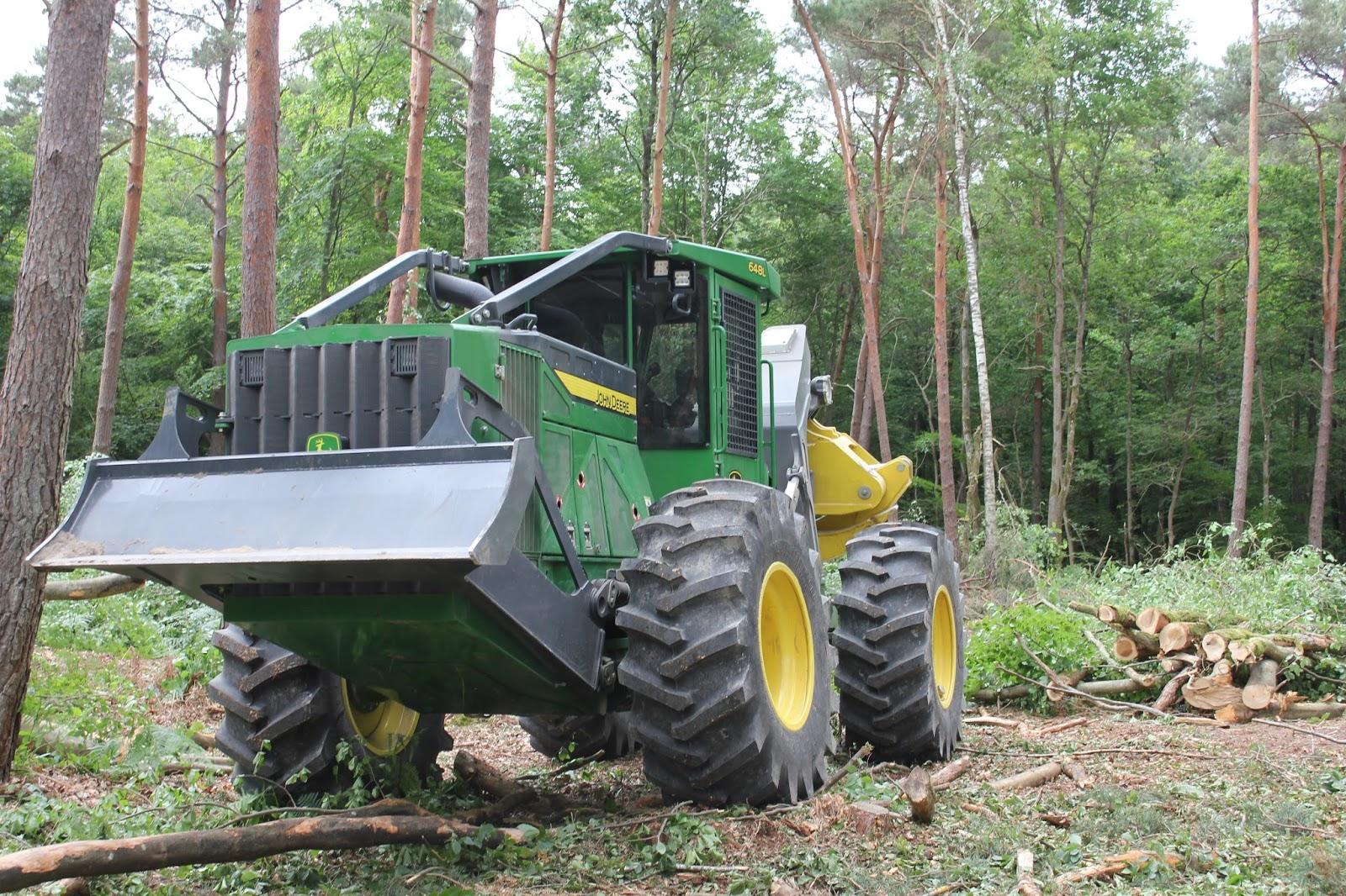 tracteur forestier john deer