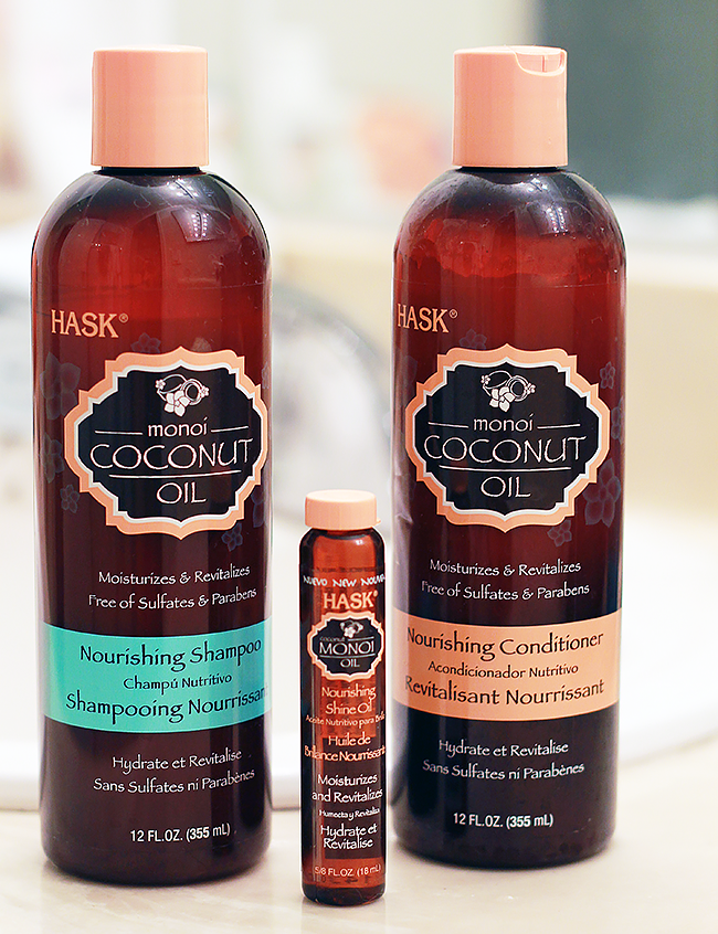 Review: HASK Monoi Coconut Oil Hair Products - A Good Hue