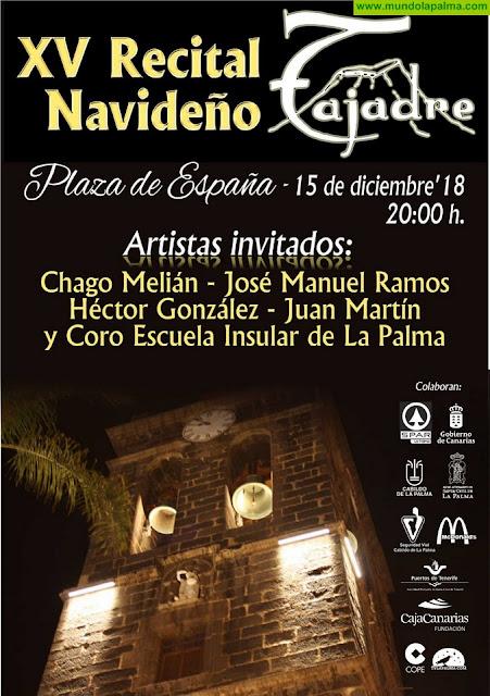 Tajadre celebra el próximo sábado su XV Concierto de Navidad que marca el inicio de las Fiestas Navideñas en Santa Cruz de La Palma