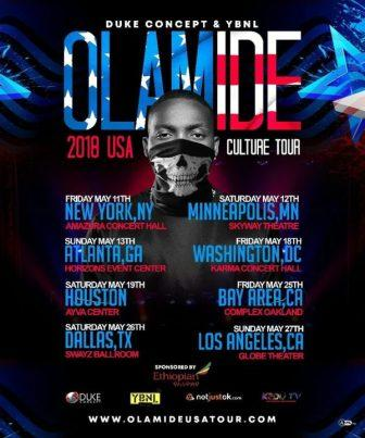Olamide Set For USA Culture Tour 2018 [View Schedule]