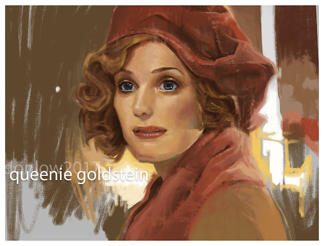 photoshop digital painting of queenie goldstein