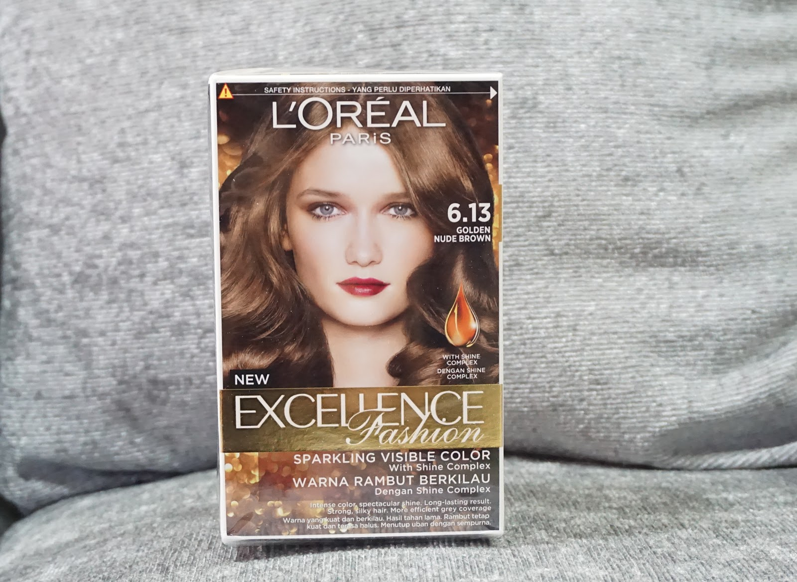 Review Cat Rambut L Oreal Paris Excellence Fashion 6 13 Golden Nude Brown Innovamei