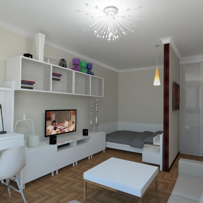 Дизайн однокомнатной квартиры площадью 36 50 кв м