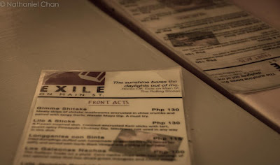 Exile on Main St. Menu