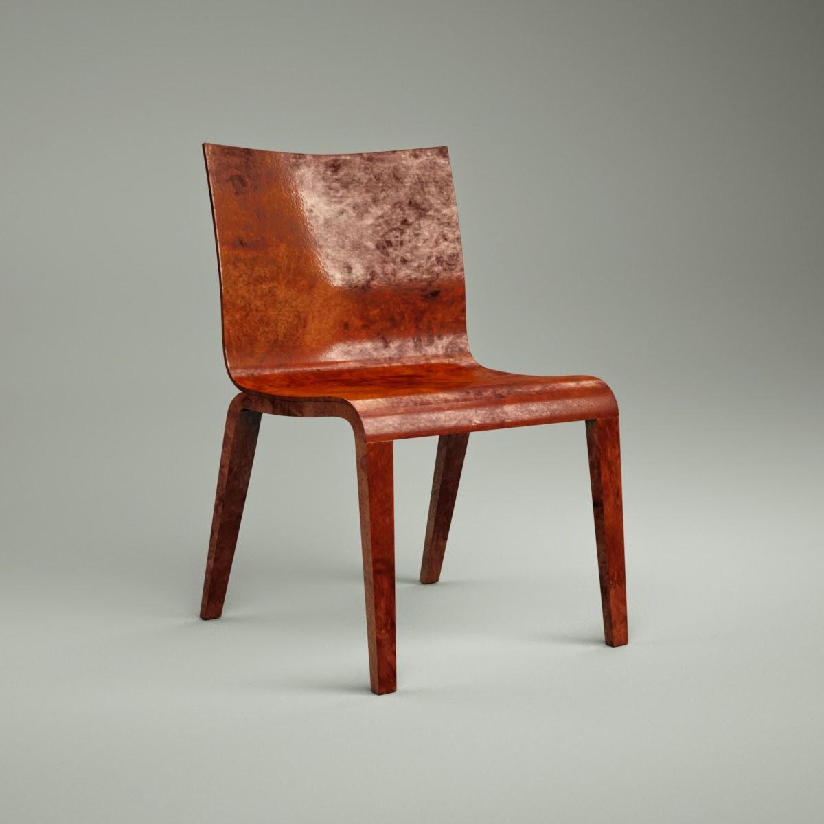 Simple Chair 3D Model Download fbx obj dxf blend