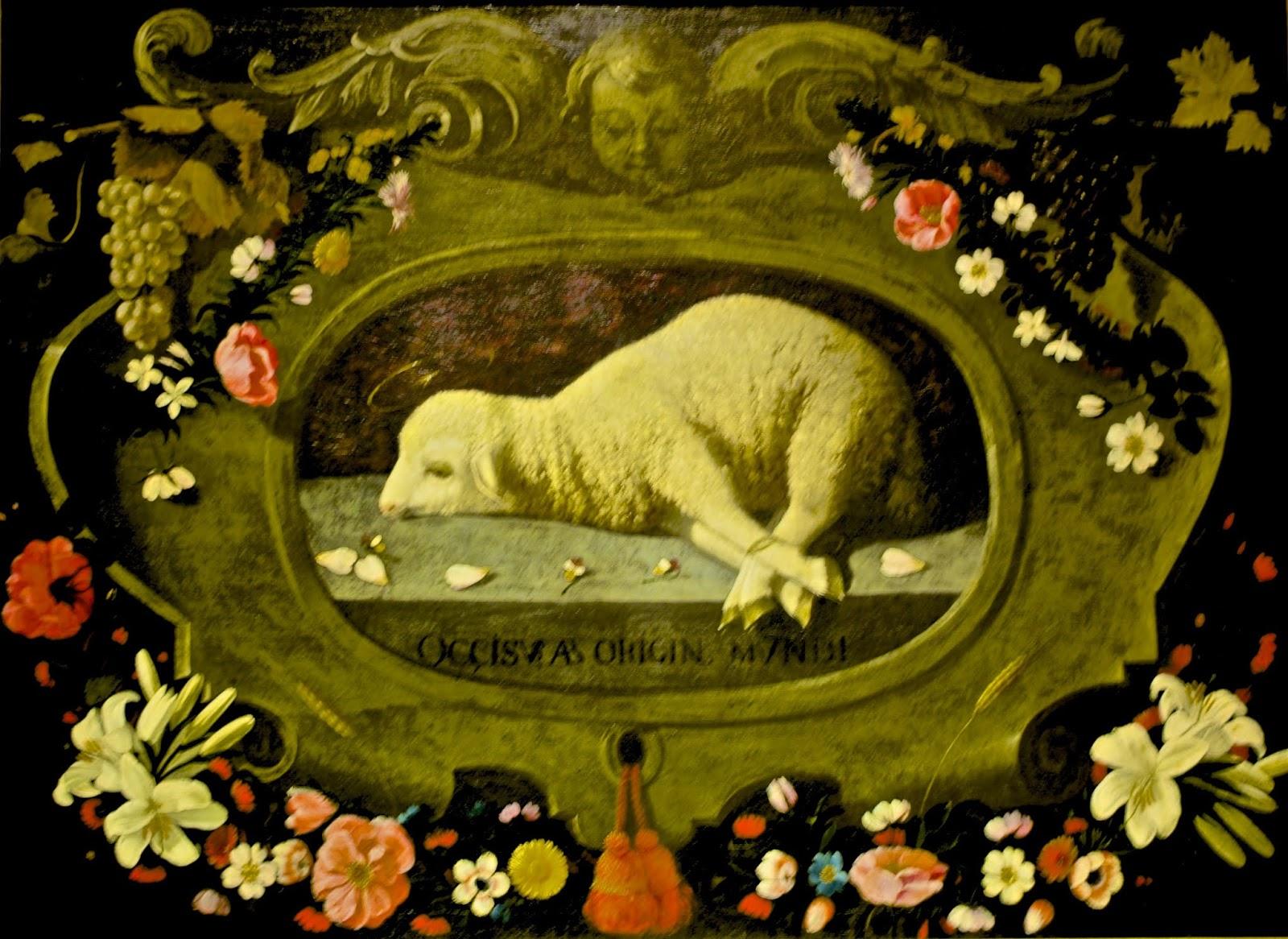 Agnus Dei, o cordeiro de Deus, do Museu Nacional de Arte Antiga em Lisboa, Portugal, ilustra este post sobre o Shijing, o Livro das Canções.