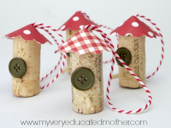 Easy Birdhouse Ornaments