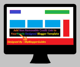 Add Complicated Credits, Blogger Template Credit Links, blogger non removable credits