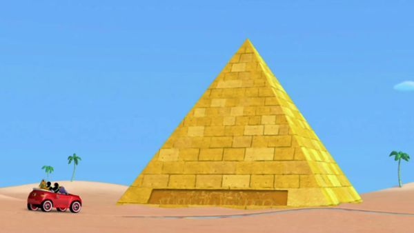 MICKEY MOUSE: Like the Great Pyramids in Egypt!