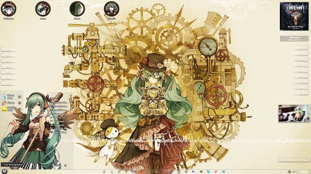 Steampunk Miku Theme Win 7 by Andrea_37
