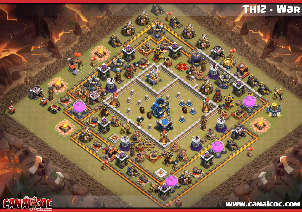 Base War Coc Th 12 Max 4