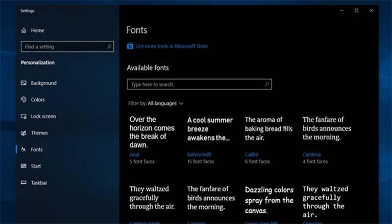 Microsoft Akan Mempermudah Pengelolaan Font Di Sistem Operasi Windows 10