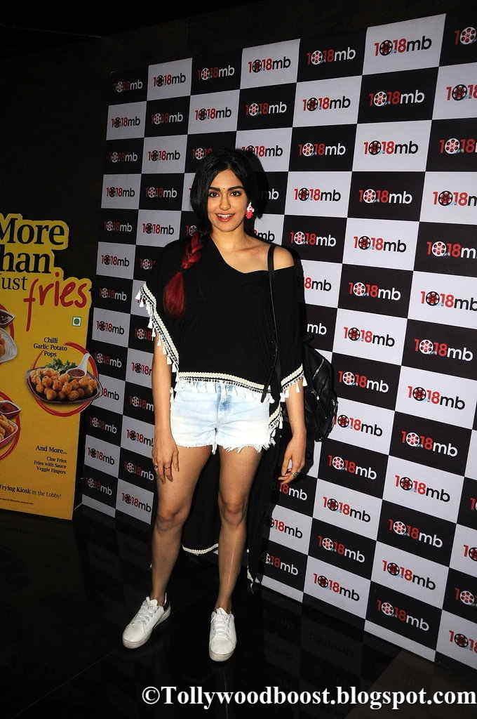 Adah Sharma Legs Thighs Show Images In Mini White Short