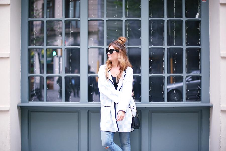 Blog De Moda Y Lifestyle Look Con Cárdigan Y Messy Bun