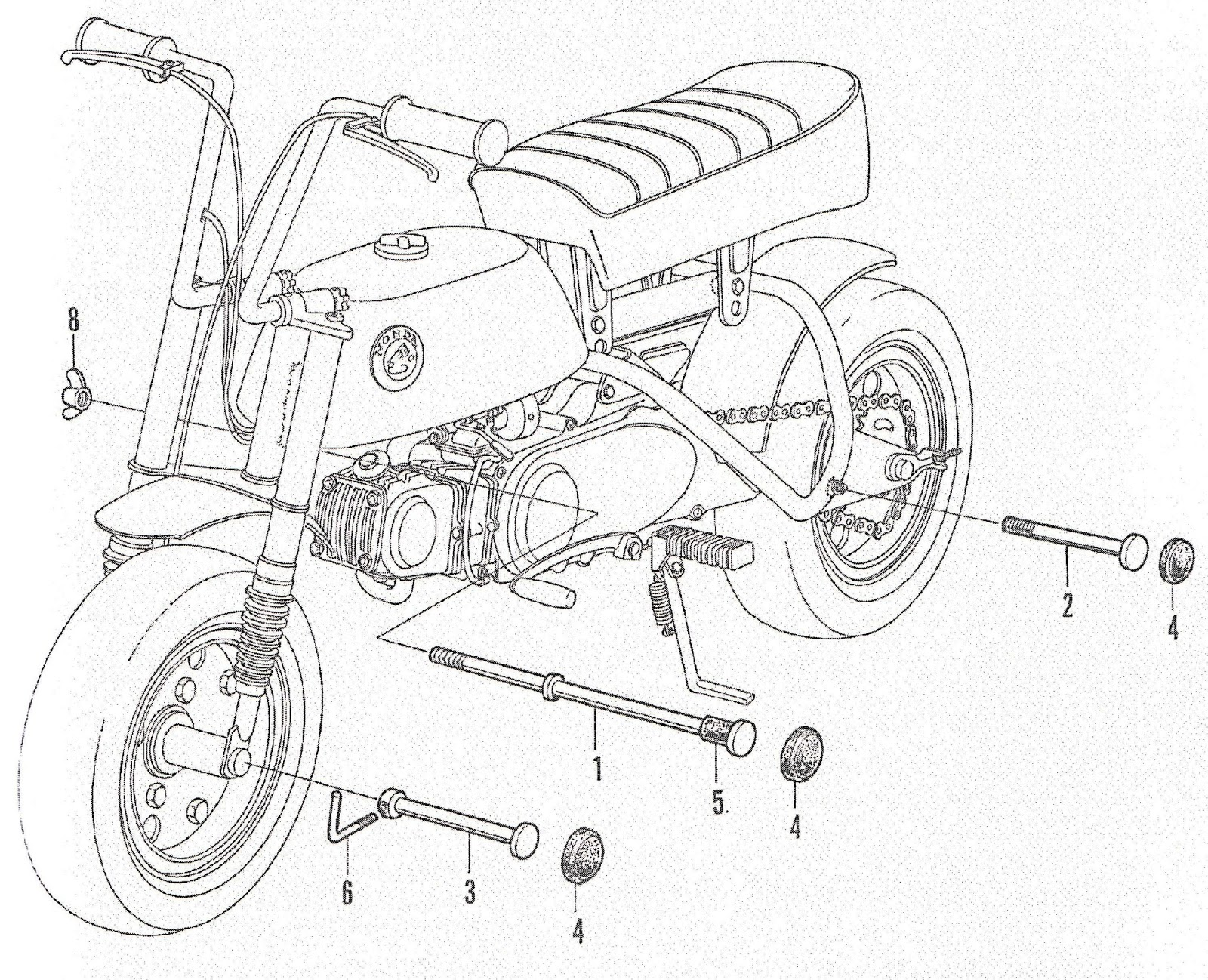 Z50 A Mini Trail Restoration Project Honda Bicycle Anatomy Diagram Please Note That There Are Some Parts No Longer Available Made By For And Sometimes You Just Need To Spend Lot Of Time Checking Out The