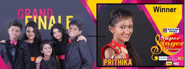 Finalists of Super Singer Junior Grand Finale on Star Vijay Television