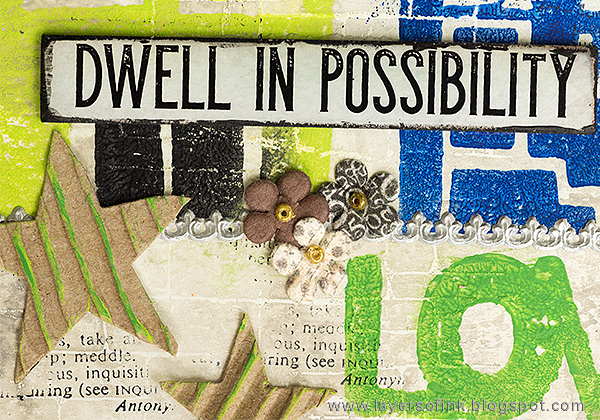 Layers of ink - Dwell in Possibility Mixed Media layout by Anna-Karin