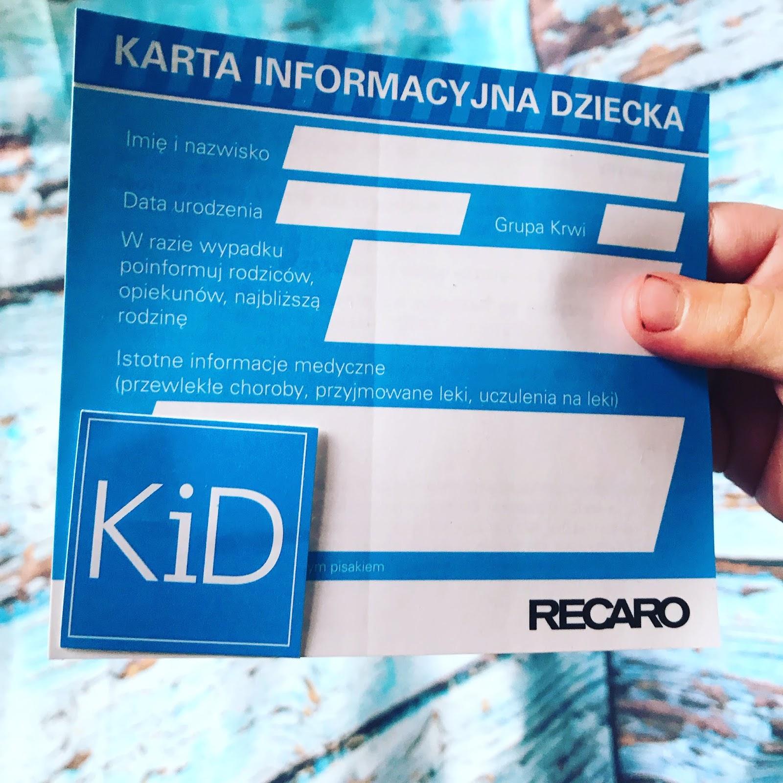 KiD Karta informacyjna Dziecka nowy standard bezpieczeństwa / Rodzicu idź i odbierz naklejkę