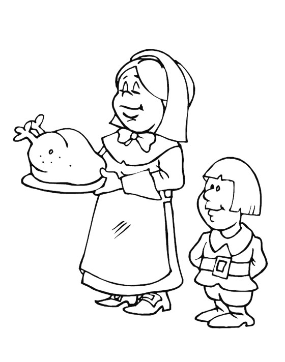 Thanksgiving Coloring Pages for Kids >> Disney Coloring Pages
