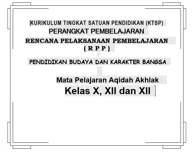 RPP Aqidah Akhlak MA Kelas X, XI dan XII Word